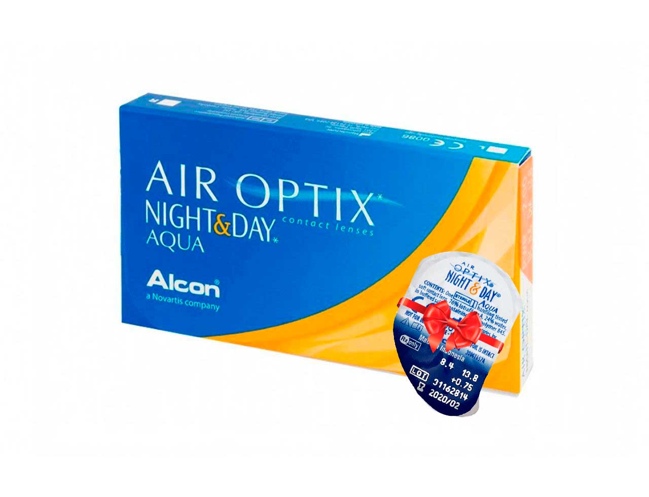 Месячные контактные линзы Alcon Air Optix Night&Day Aqua - Фото №7