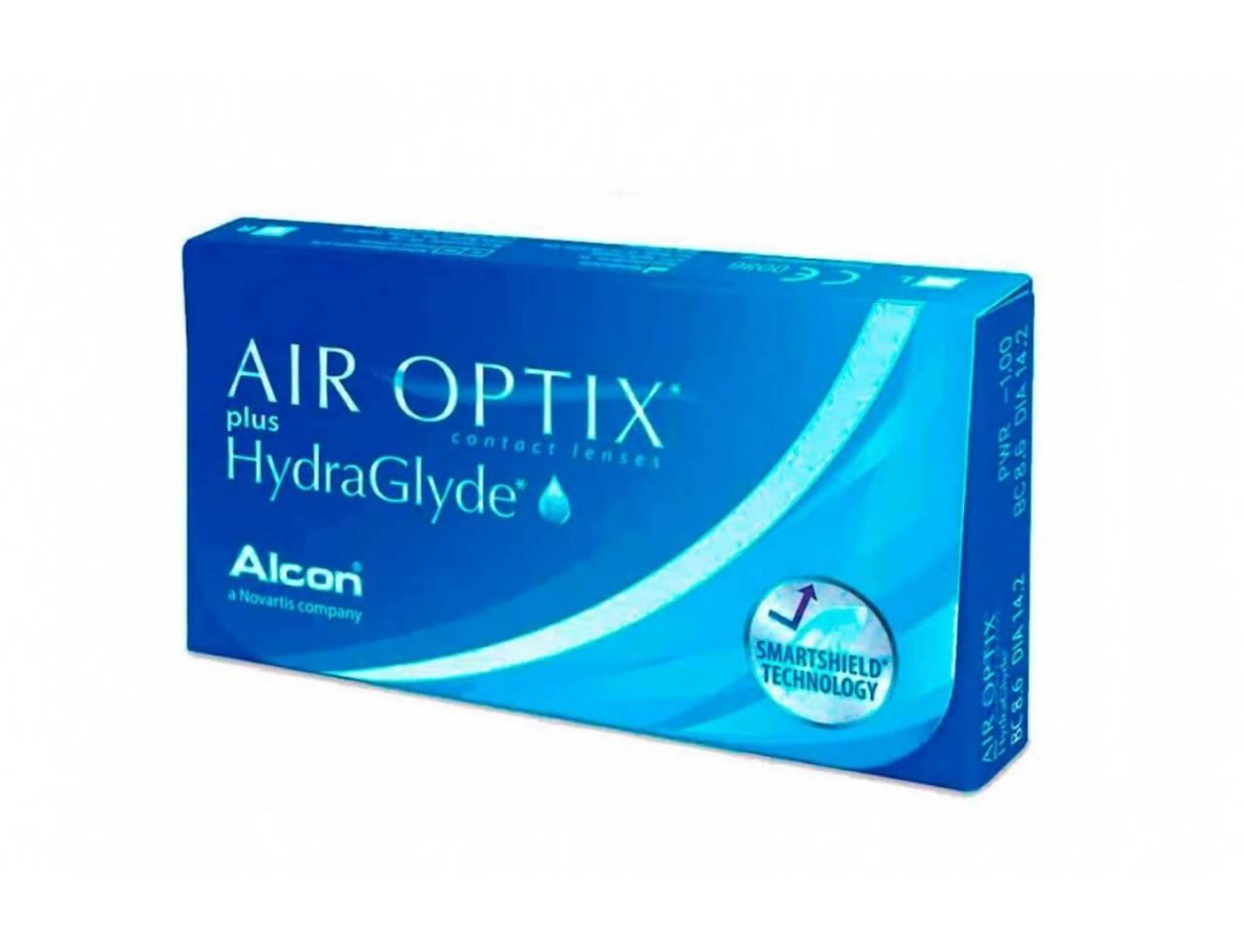 Месячные контактные линзы Alcon Air Optix plus HydraGlyde - Фото №7