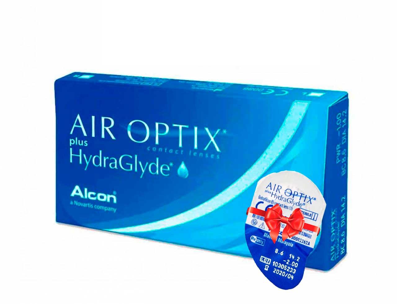 Месячные контактные линзы Alcon Air Optix plus HydraGlyde