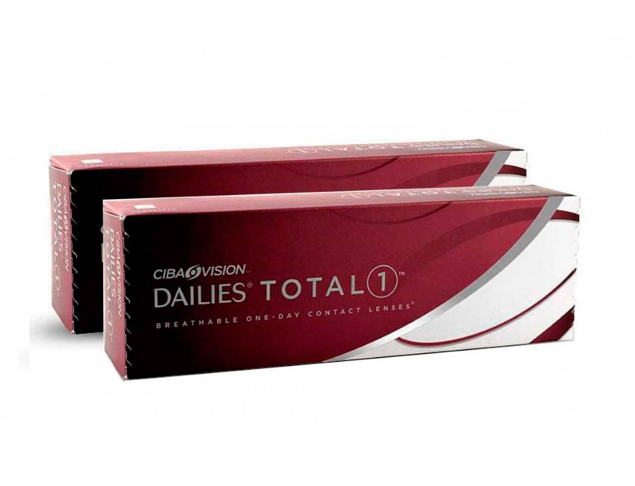 Dailies Total 1 - 2 упаковки (-3%)