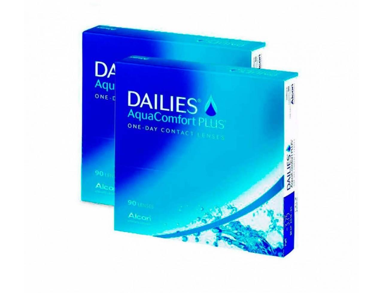 Dailies AquaComfort Plus - 2 уп. по 90 линз (-3%)