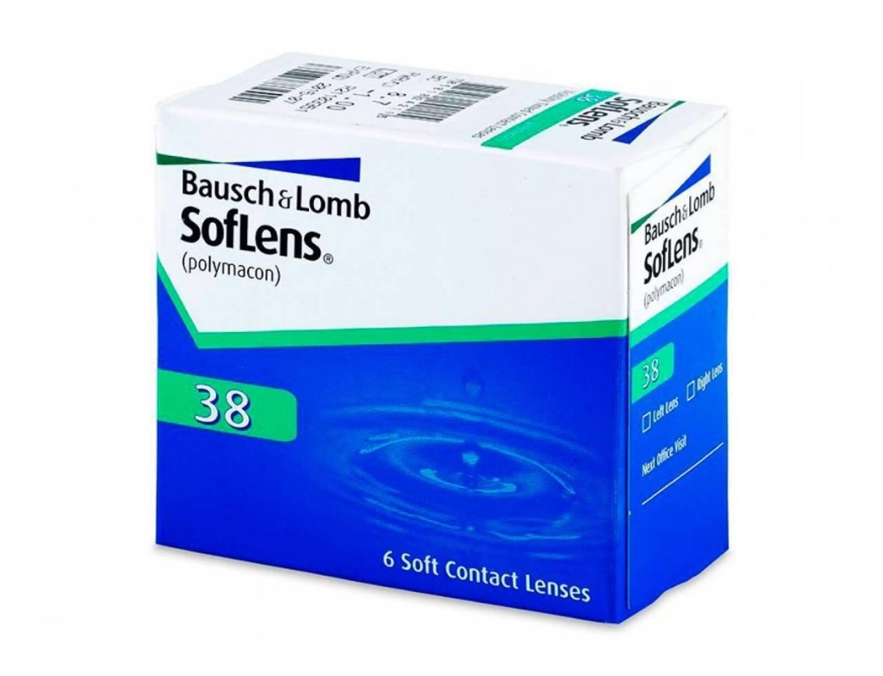 Квартальные контактные линзы Bausch+Lomb SofLens 38