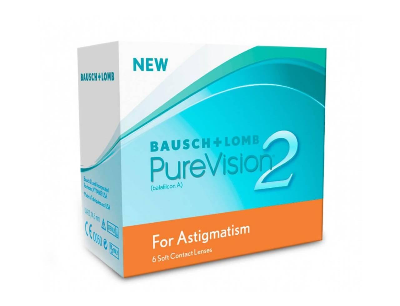 Торические контактные линзы Bausch+Lomb Pure Vision 2 For Astigmatism