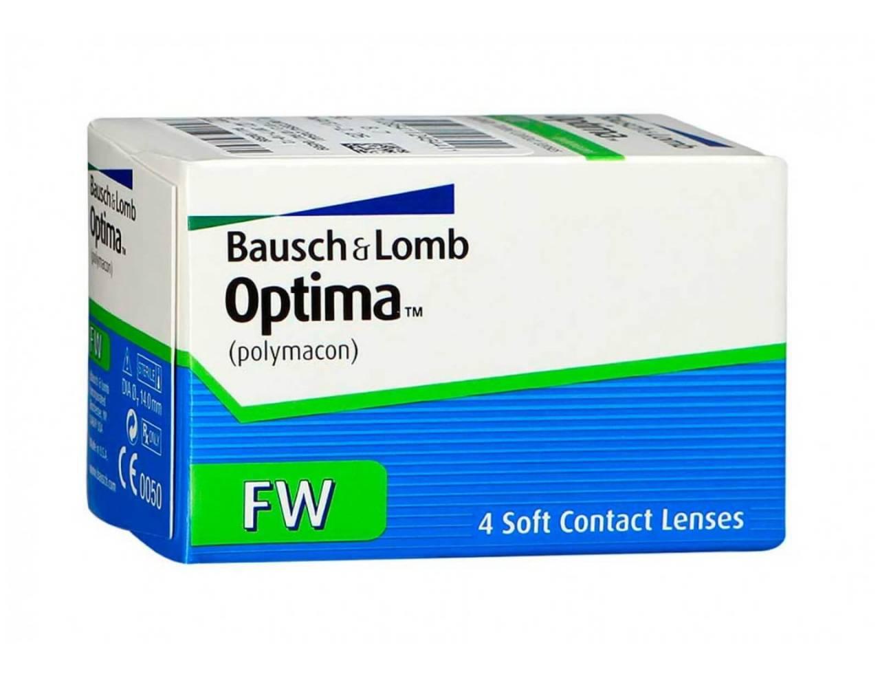 Квартальные контактные линзы Bausch+Lomb Optima FW - Фото №7