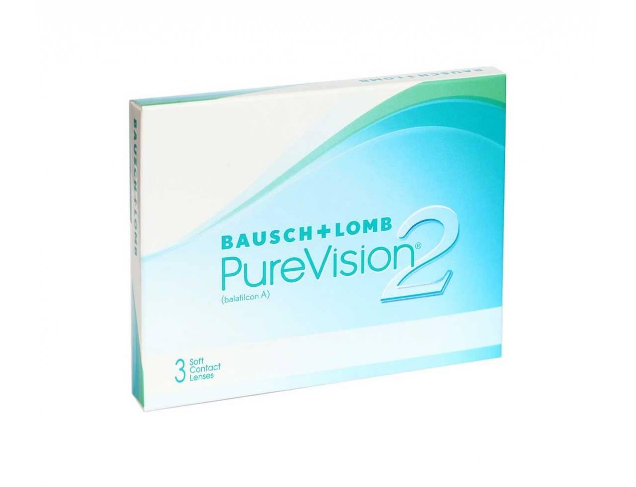 Месячные контактные линзы Bausch+Lomb Pure Vision 2