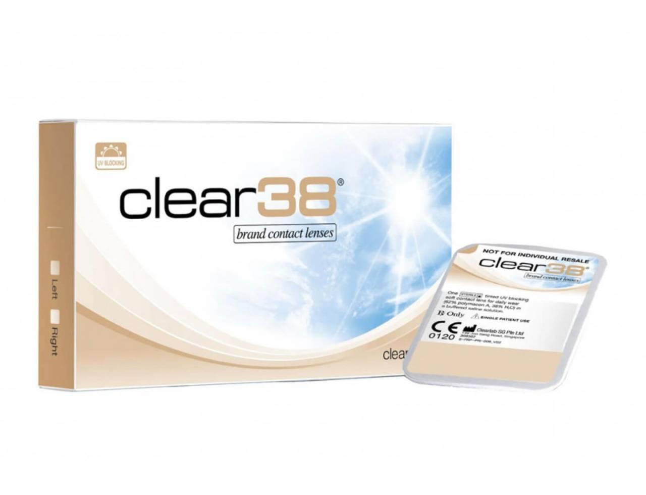 Квартальные контактные линзы Clearlab Clear 38