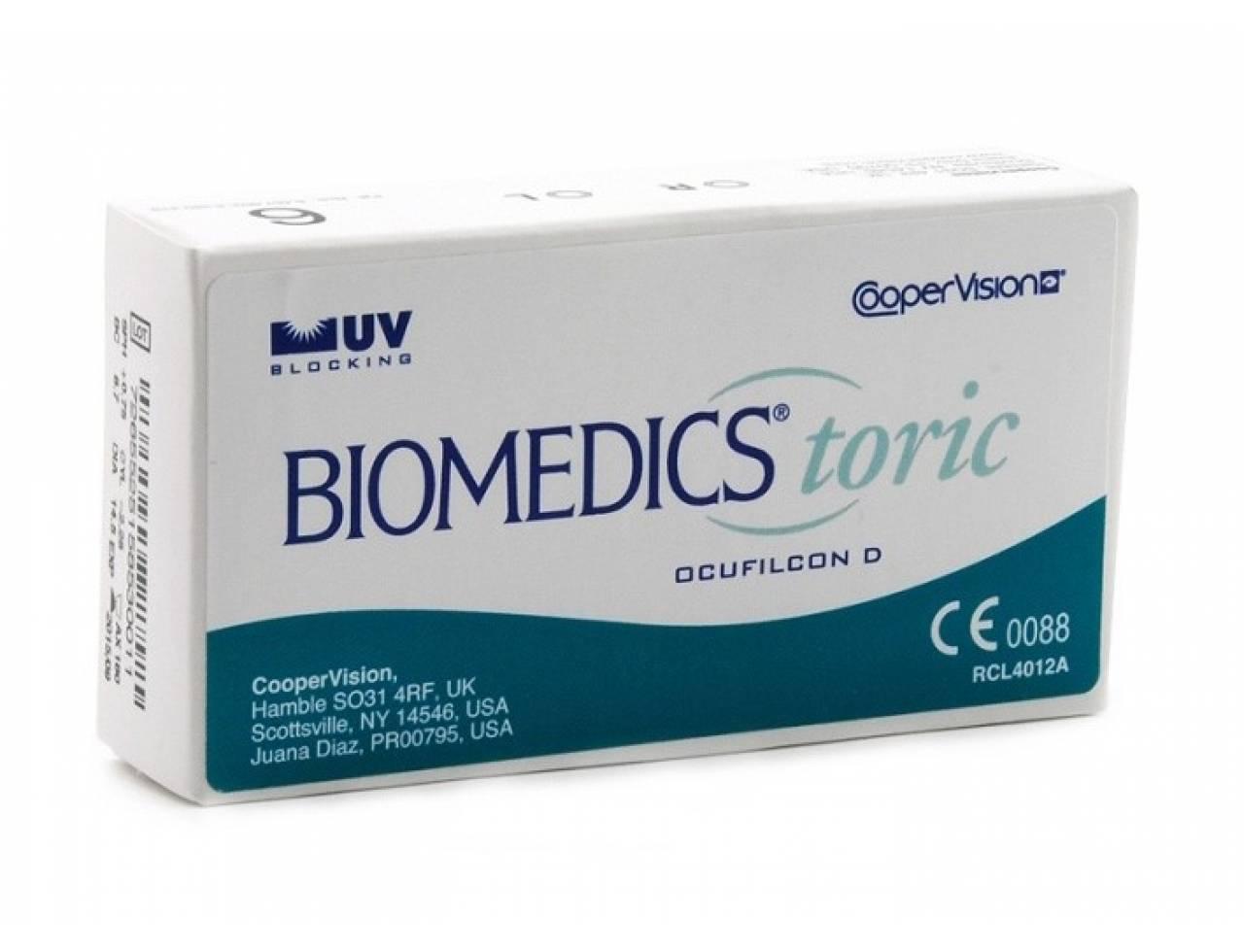Торические контактные линзы Cooper Vision Biomedics Toric UV