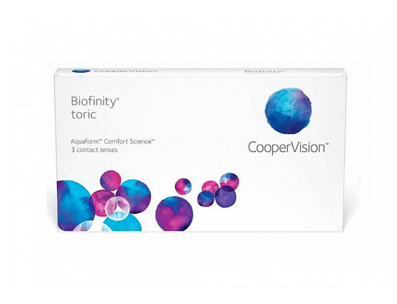Торические контактные линзы Cooper Vision Biofinity toric