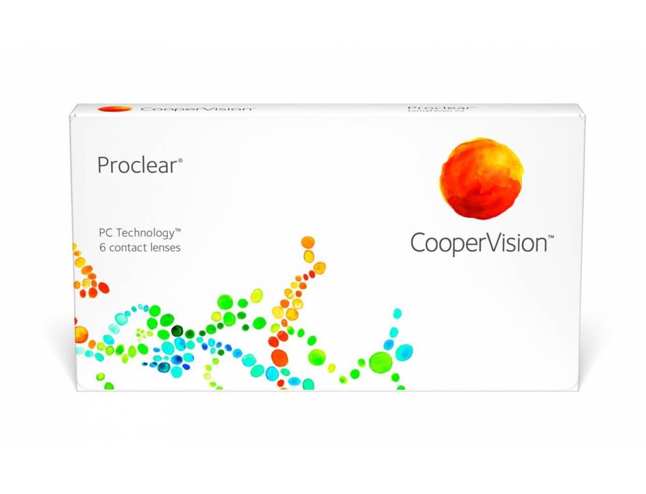Месячные контактные линзы Cooper Vision Proclear