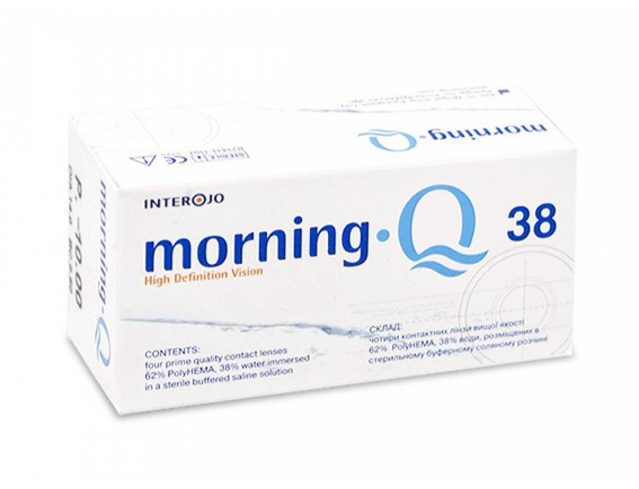Квартальные контактные линзы Interojo Morning Q 38