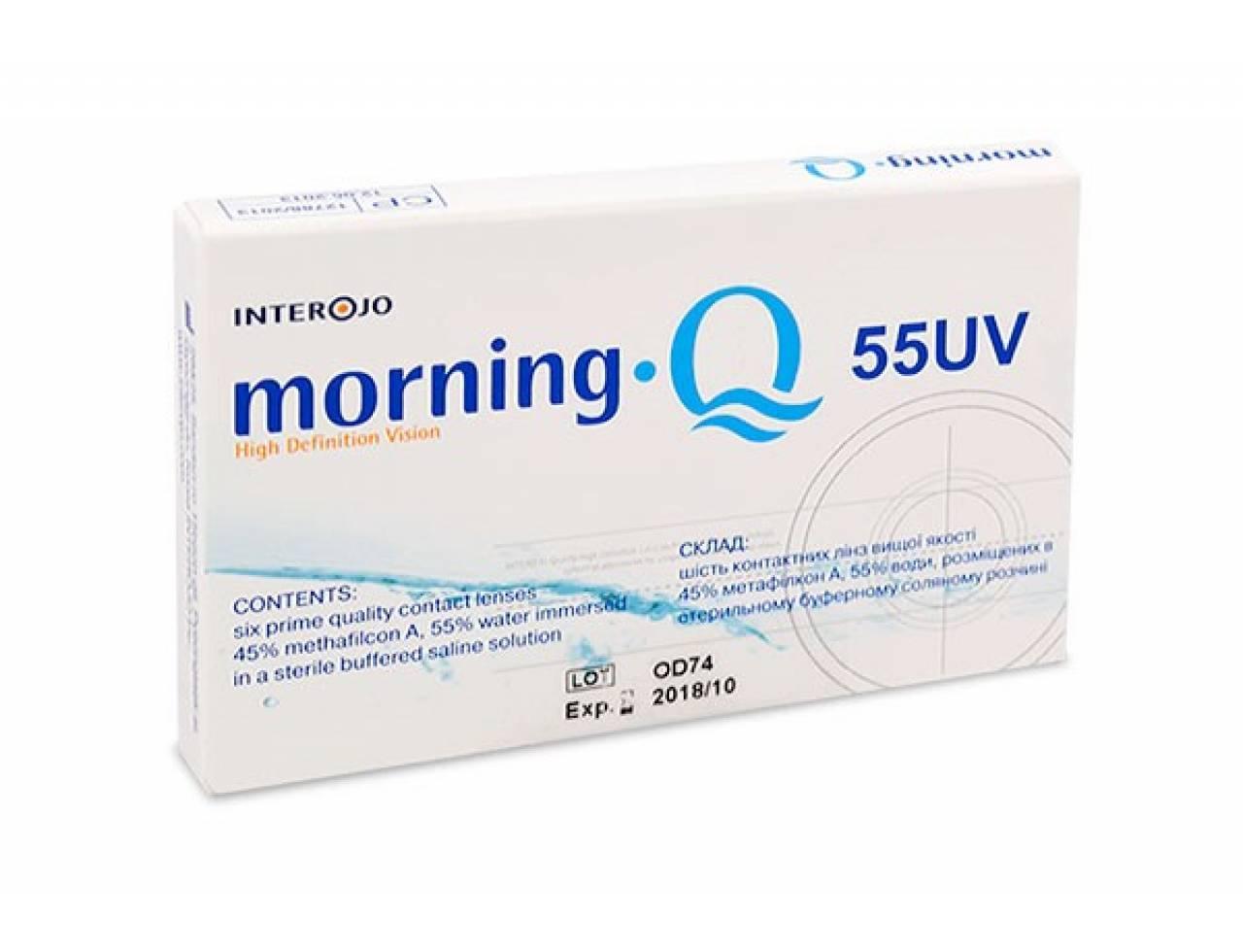 Месячные контактные линзы Interojo Morning Q55 UV - Фото №7