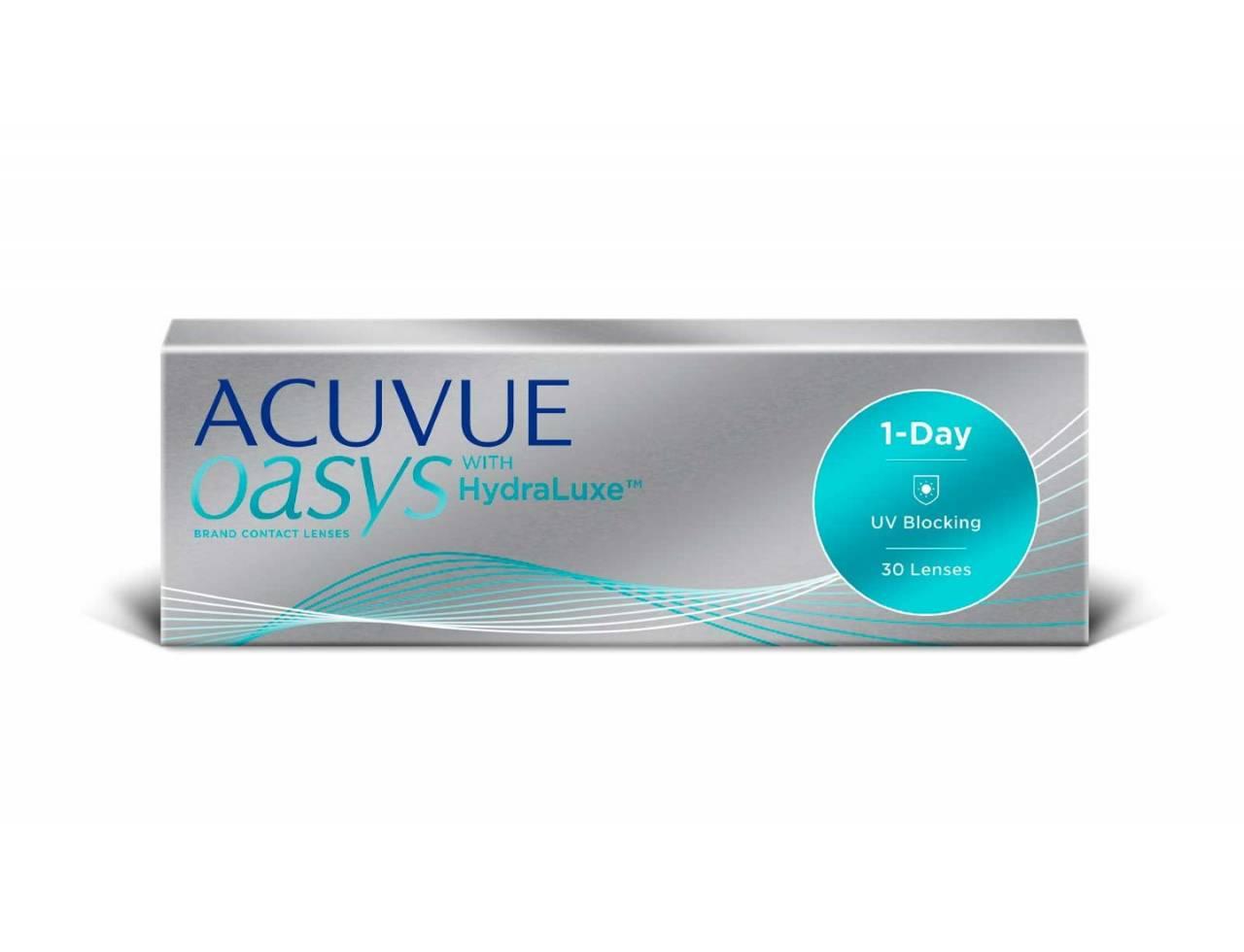 Однодневные контактные линзы Johnson & Johnson 1-Day Acuvue Oasys with HydraLuxe