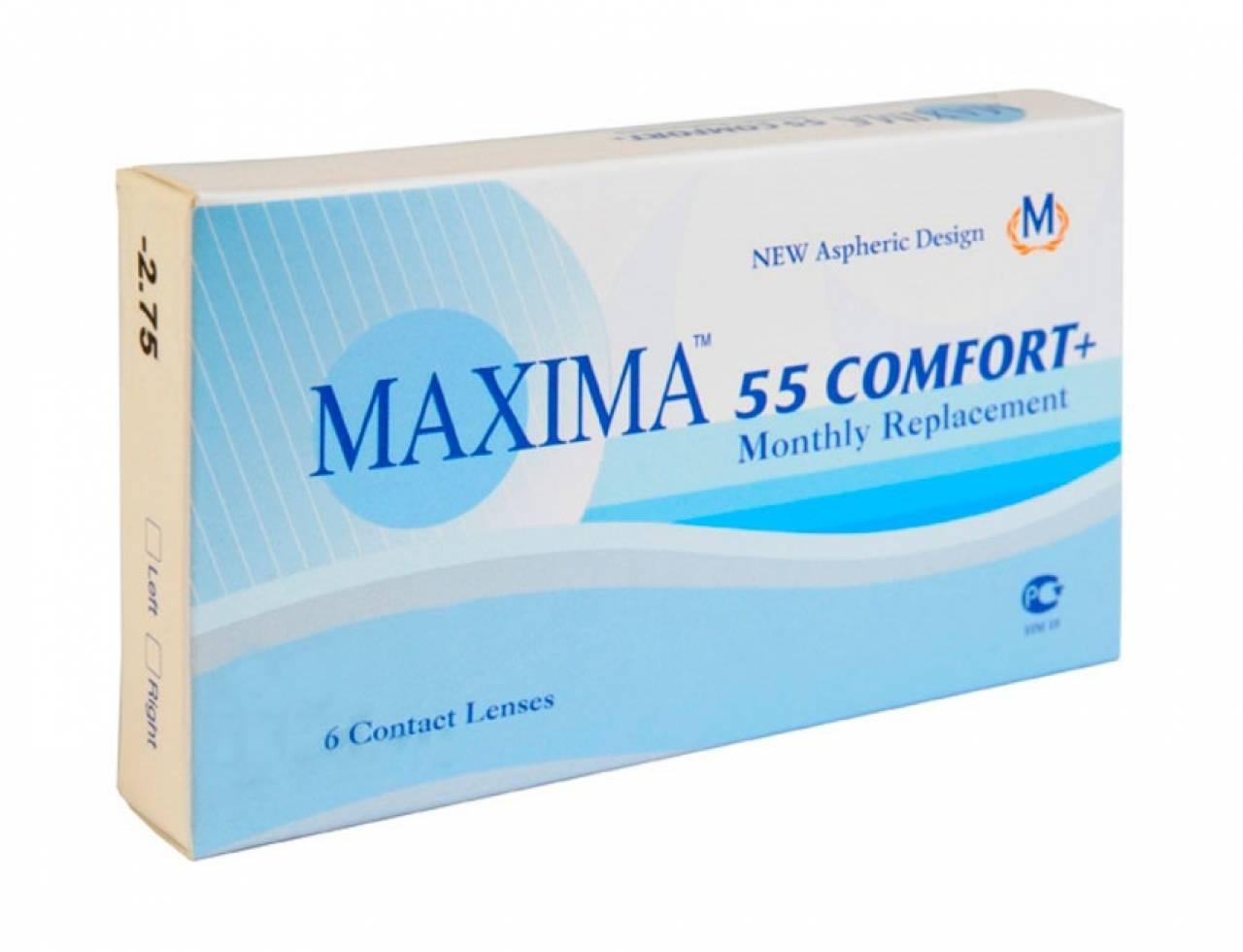 Месячные контактные линзы Maxima 55 Comfort+