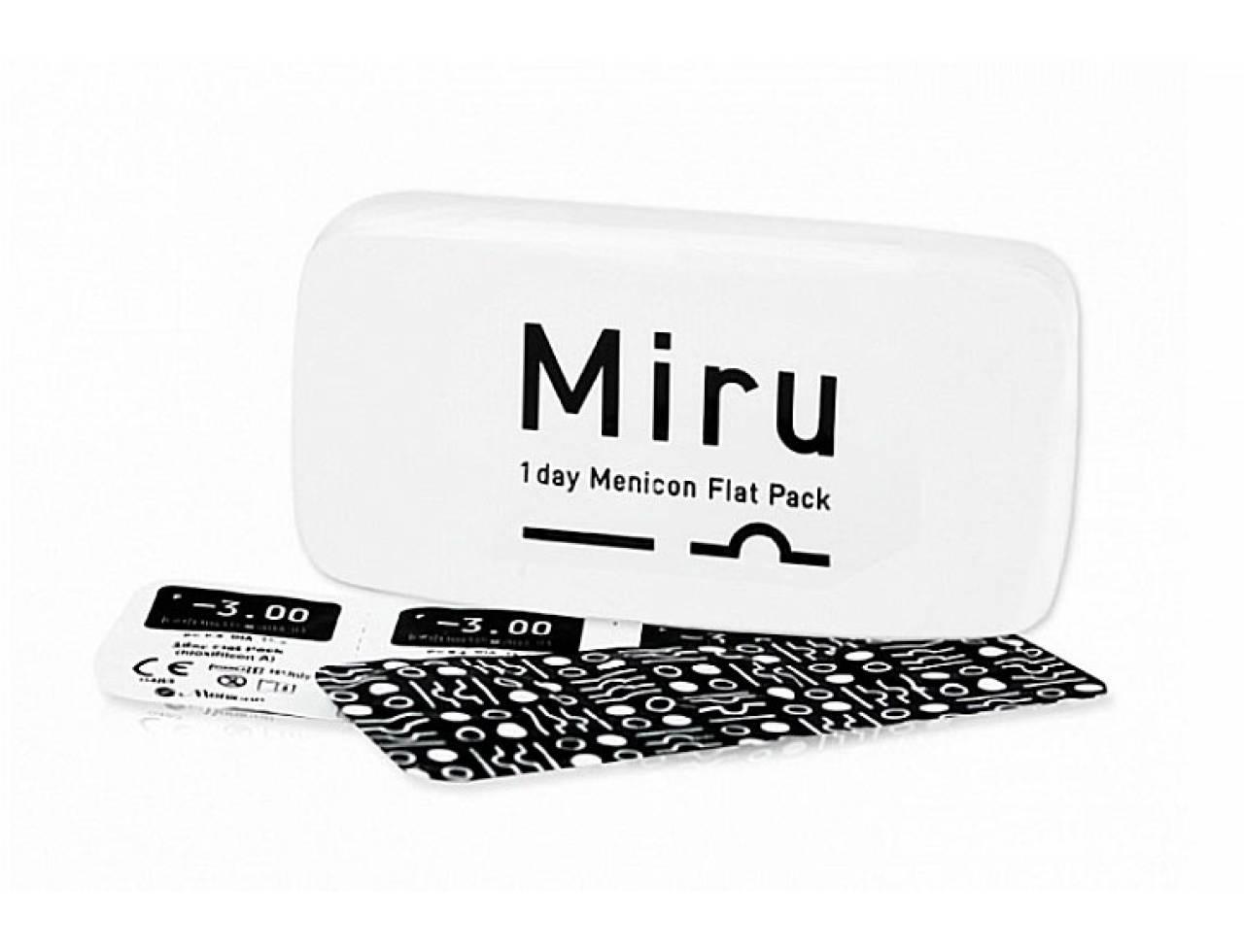 Однодневные контактные линзы Menicon Miru 1day Menicon Flat Pack - Фото №7