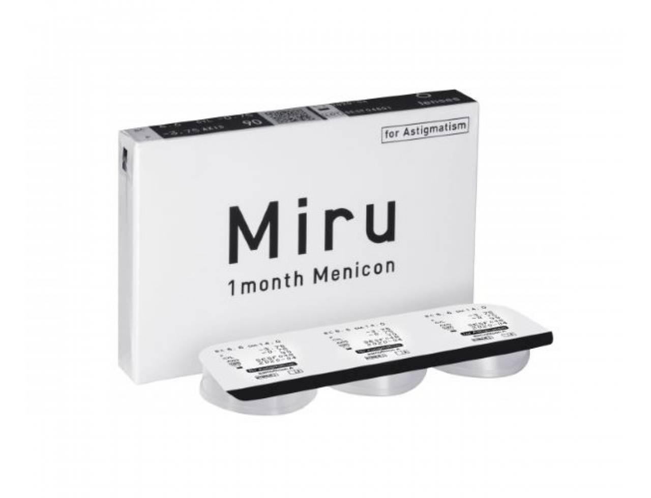 Торические контактные линзы Menicon Miru 1 Month For Astigmatism - Фото №7