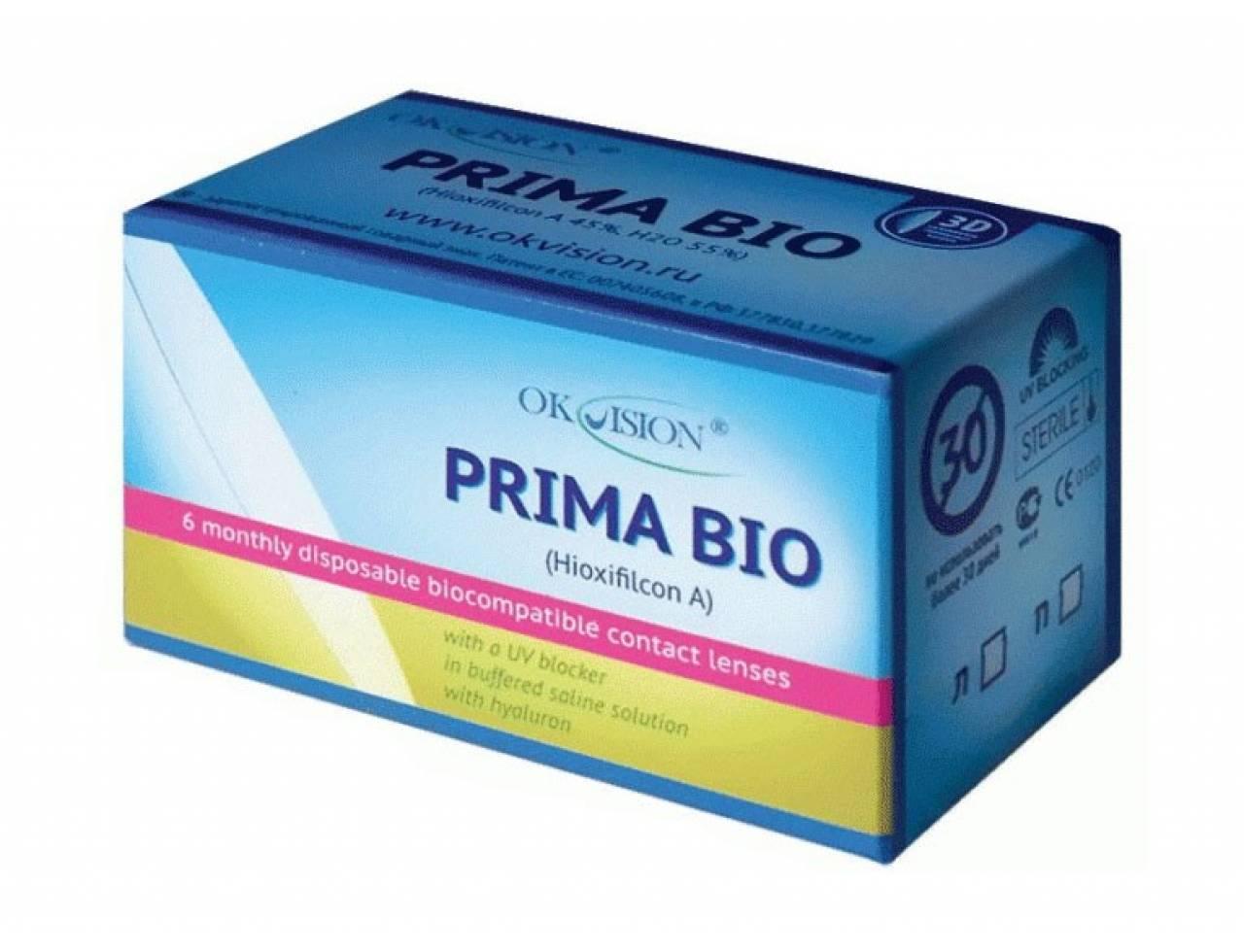 Месячные контактные линзы OkVision Prima Bio