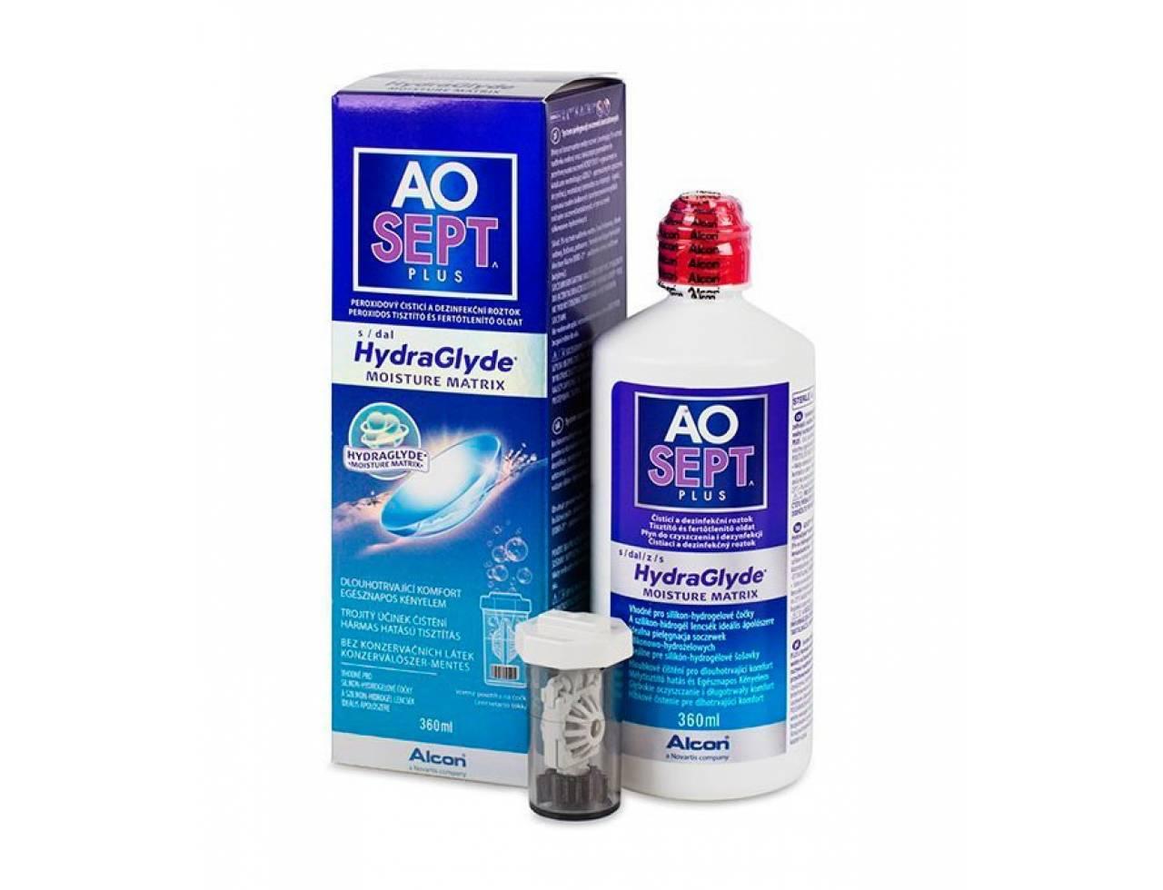 Раствор для контактных линз Alcon Aosept Plus HydraGlyde - Фото №7