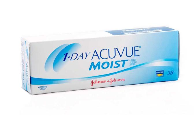 Однодневные контактные линзы Johnson & Johnson 1-Day Acuvue Moist - фото