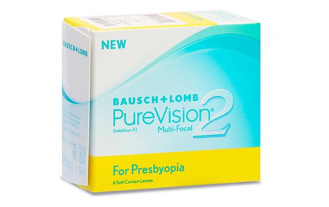 Мультифокальные контактные линзы Bausch+Lomb Pure Vision 2 Multi-Focal - фото