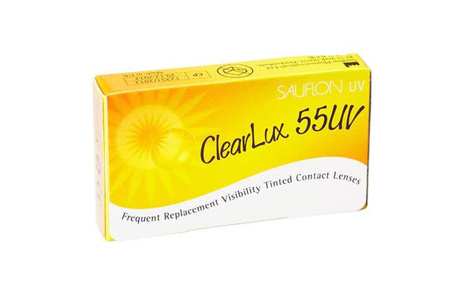 Месячные контактные линзы Sauflon ClearLux 55 UV - фото