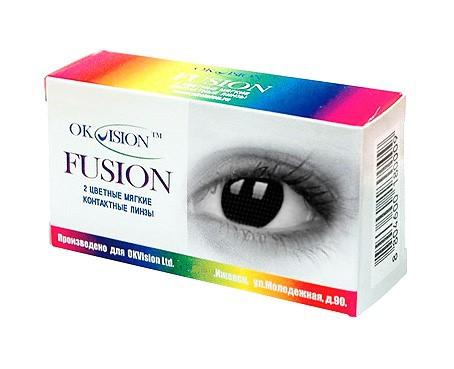 Цветные контактные линзы OkVision Fusion (crazy) - фото
