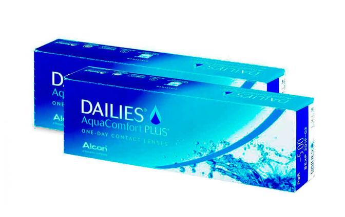 Dailies AquaComfort Plus - 2 уп. по 30 линз (-3%) - фото
