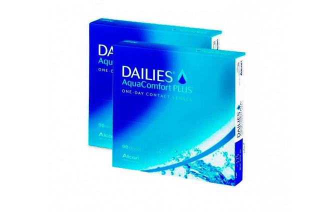 Dailies AquaComfort Plus - 2 уп. по 90 линз (-3%) - фото