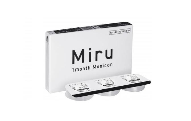 Торические контактные линзы Menicon Miru 1 Month For Astigmatism - фото